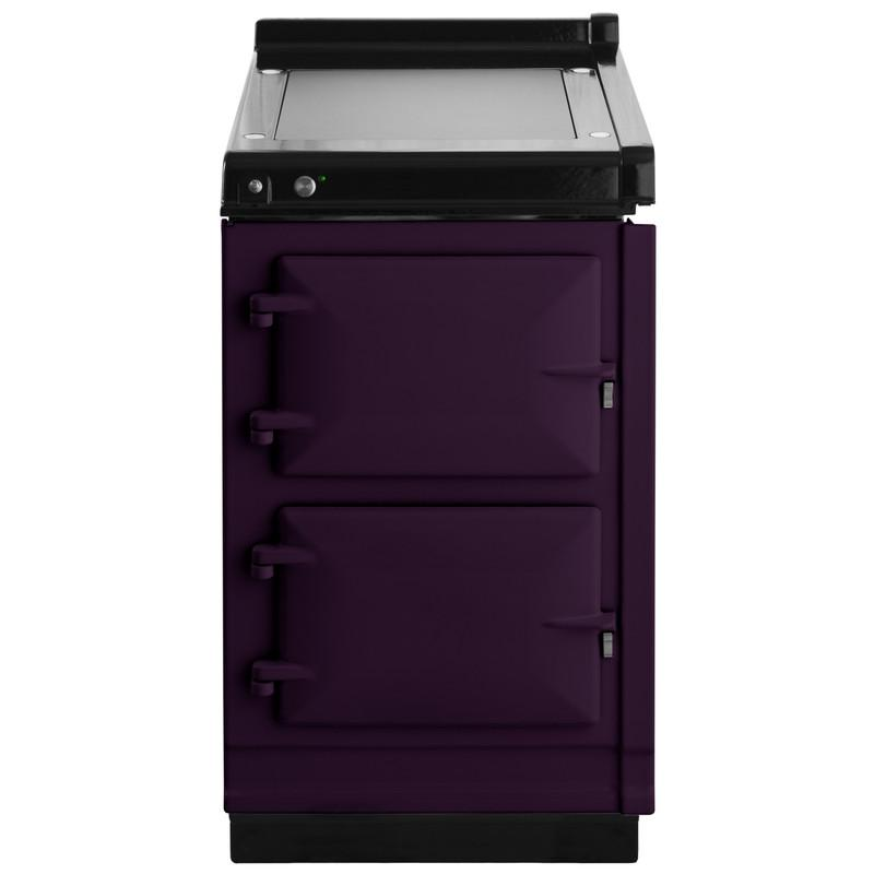 """AGAAga Hotcupboard 20"""" Electric Aubergine With Stainless Steel Trim"""