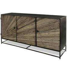 KAYDEN SIDE BOARD  59in w. X 32in ht. X 15in d.  Solid Reclaimed Wood Cut and Joined to Resemble R