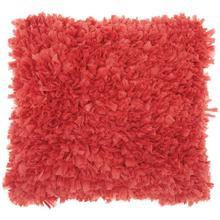 """Shag Dl660 Coral 1'5"""" X 1'5"""" Throw Pillow"""