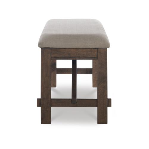 Upholstered Seat Bench, Rustic Umber