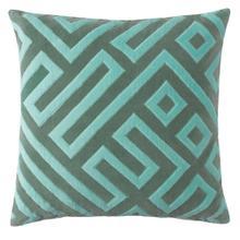 See Details - Best Seller Maze Pillow, JADE, 22X22