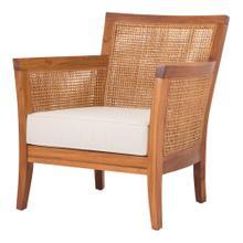 Carter Rattan Accent Arm Chair, Coastal Washed Brown