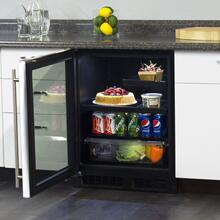 24-In Low Profile Built-In Beverage Refrigerator with Door Swing - Left