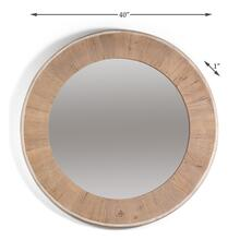 Circular Wood Mirror, Lg