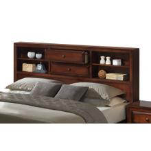 Asger Antique Oak Finish Wood QUEEN & KING Size Storage Platform Bed, King