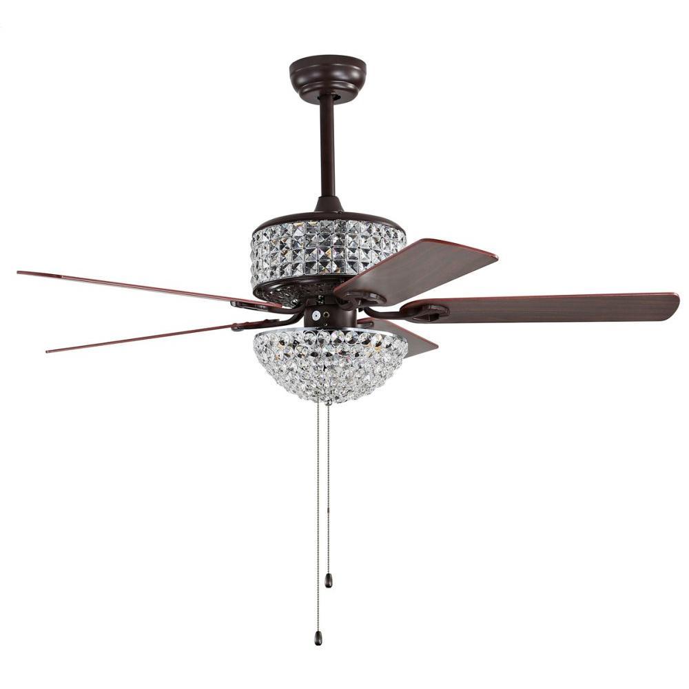 Nori Ceiling Light Fan - Dark Walnut With Black / Dark Walnut