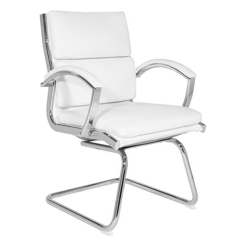 Office Star - Mid-back Faux Leather Visitor's Chair