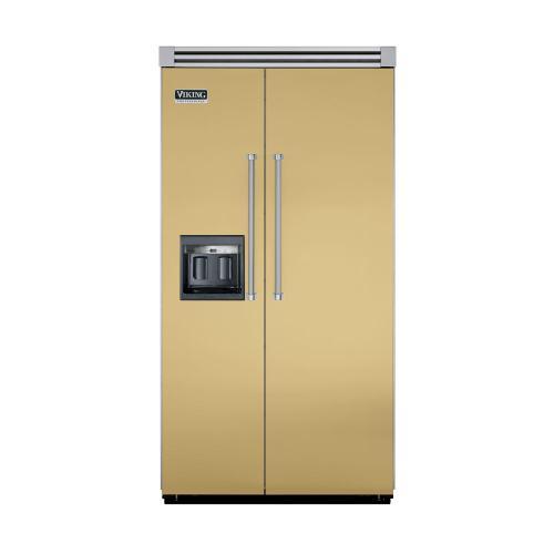 """Viking - Golden Mist 42"""" Side-by-Side Refrigerator/Freezer with Dispenser - VISB (Integrated Installation)"""