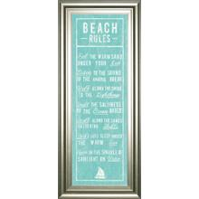 """Beach Rules"" By The Vintage Collection Framed Print Wall Art"
