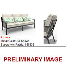 Outdoor Metal X-Back Sofa (1 of 2)