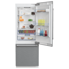 """See Details - 30"""" Freezer Bottom Built-In Refrigerator with Auto Ice Maker and Internal Water Dispenser"""