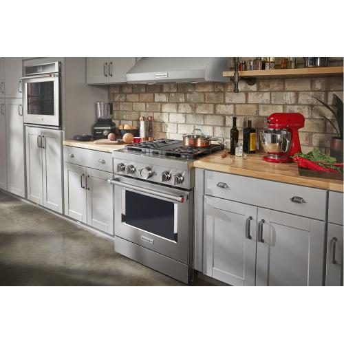 KitchenAid® 30'' Smart Commercial-Style Dual Fuel Range with 4 Burners - Stainless Steel