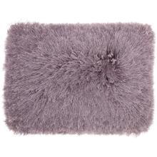 """Shag Tl004 Lavender 14"""" X 20"""" Throw Pillow"""