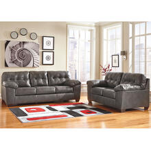 Signature Design by Ashley Alliston Living Room Set in Gray Faux Leather [FSD-2399SET-GRY-GG]