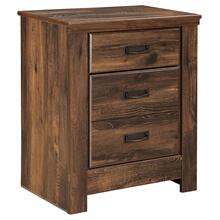 B246 Two Drawer Nightstand (Quinden Dark Brown)