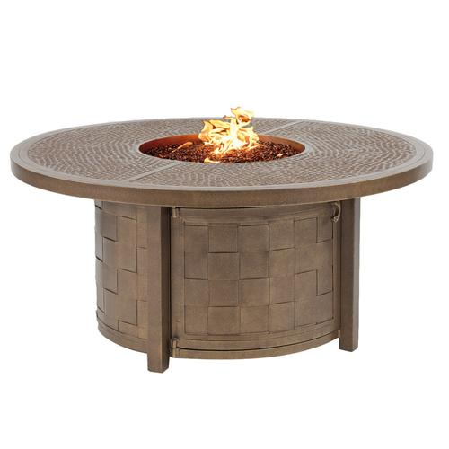 """Castelle - 49"""" Classical Round Firepit Coffee Table"""
