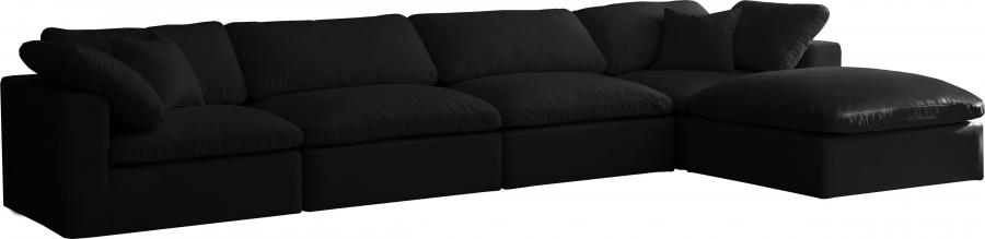 "Cozy Velvet Cloud Modular Down Filled Overstuffed Reversible Sectional - 158"" W x 80"" D x 32"" H"