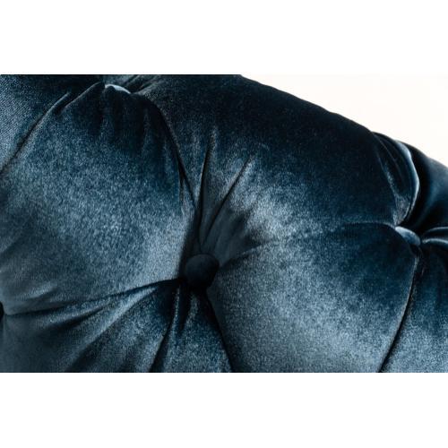 Divani Casa Delilah Modern Blue Fabric Sectional Sofa