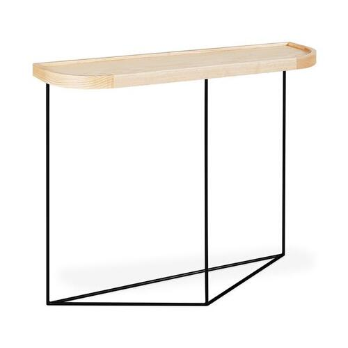 Porter Console Table New Blonde Ash / Black