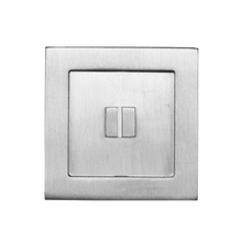 Square flush pull 65x65 with emergency release, Antique Brass Dark