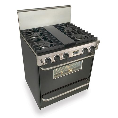 """Five Star - 30"""" All Gas, Convect, Sealed Burners, Black"""