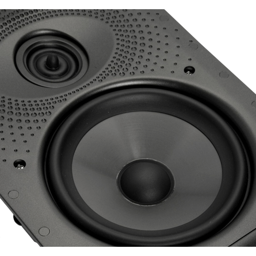 """LS Series Vanishing High Performance In-Wall Loudspeaker with 6.5"""" Mid/Woofer and 1"""" tweeter in Paintable Grille"""