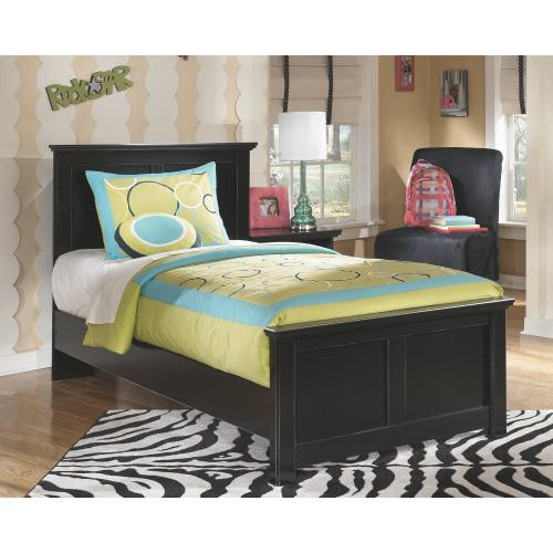 Twin Panel Bed With Mirrored Dresser and 2 Nightstands