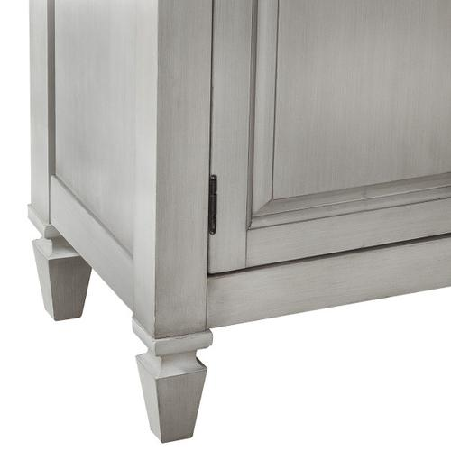 4 Door 3 Drawer Console-KD CTN 1/2 in Gray