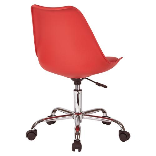 Emerson Student Office Chair With Pneumatic Chrome Base In Red Finish