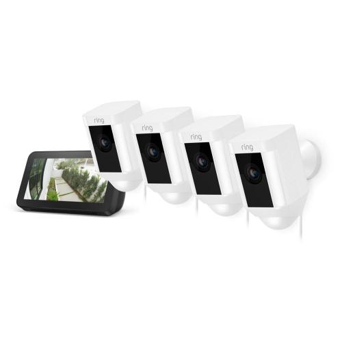 4-Pack Spotlight Cam Wired with Echo Show 5 - Black