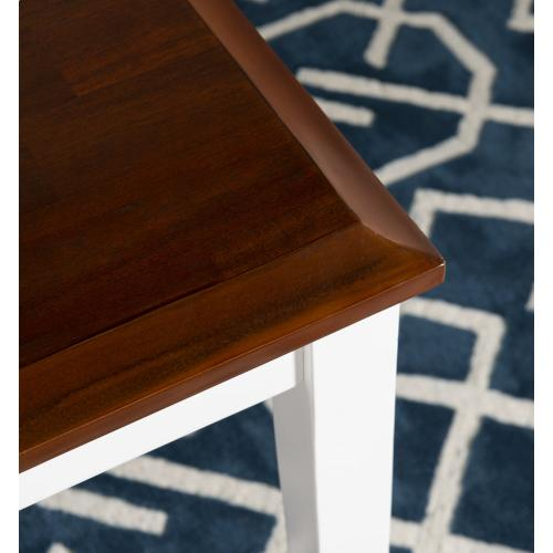 5-piece Dining Table Set, Cherry and White