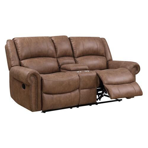 Spencer Motion Console Loveseat Brown