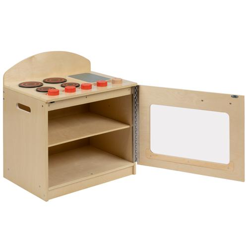 Flash Furniture - Children's Wooden Kitchen Stove for Commercial or Home Use - Safe, Kid Friendly Design