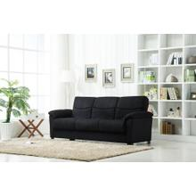 Urban Fabric Storage Sofa Bed In Black