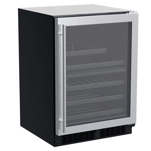 Marvel - 24-In Built-In Dual Zone Wine And Beverage Center with Door Style - Stainless Steel Frame Glass