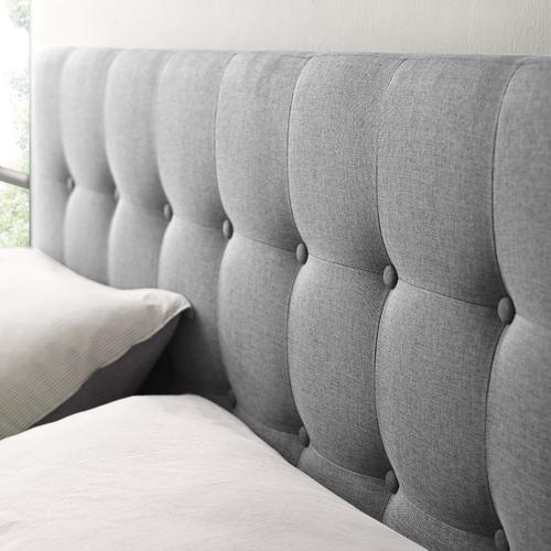 Modway - Emily Queen Upholstered Fabric Headboard in Gray