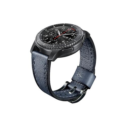 Samsung - Leather Strap Seta (22mm) Navy Blue