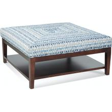 Hammond Cocktail Ottoman with Button and Miter Top
