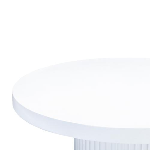 """Tov Furniture - Wave Concrete Dining Table 47"""""""