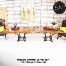 See Details - Chic and Luxury Modern Iron Dining Tables With Copper top - 1231 R - 9' / Natural Copper / Coppertone