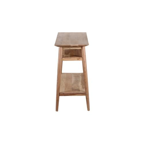 Porter International Designs - COMING SOON, PRE-ORDER NOW! Portola Natural Console Table with Shelf, 2005-002NT