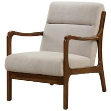 Anton KD Arm Chair Dark Walnut Frame, Studio Light Brown