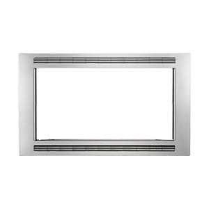 Frigidaire - Frigidaire Black/Stainless 30'' Microwave Trim Kit