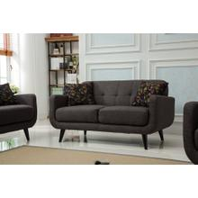 Modibella Contemporary Living Room Loveseat, Taupe