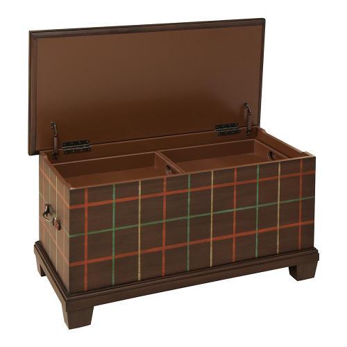 Bassett Furniture - Highlands Plaid Storage Trunk-Floor Sample-**DISCONTINUED**