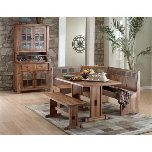 Sedona 4-Piece Breakfast Nook Set W/side Bench