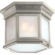 Visual Comfort CHC4125AN-FG E. F. Chapman Club 3 Light 12 inch Antique Nickel Flush Mount Ceiling Light in Frosted Glass