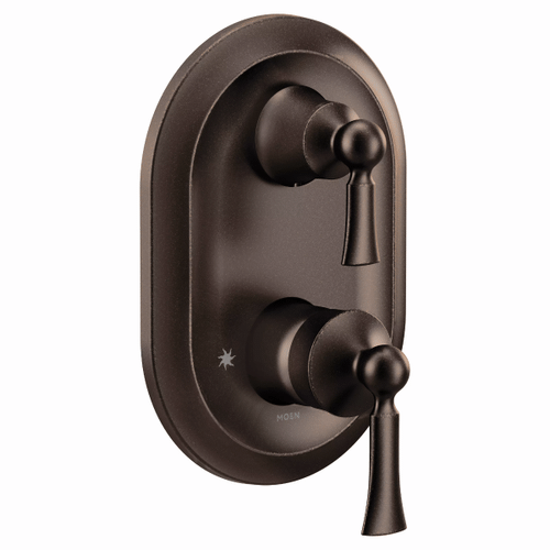 Wynford oil rubbed bronze m-core 3-series with integrated transfer valve trim