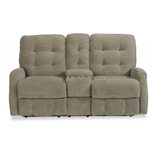 Devon Power Reclining Loveseat with Console