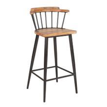 See Details - Tucker Bar Stool, Wood/Iron